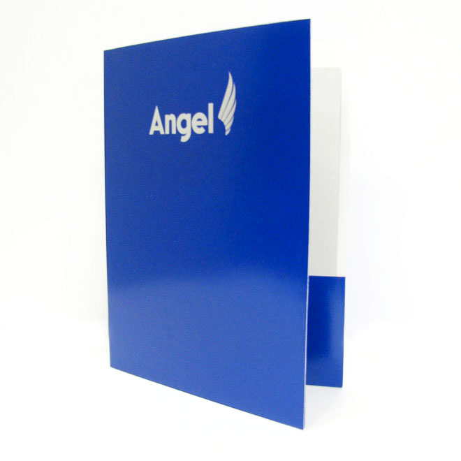 Angel Custom Die Pocket Folder