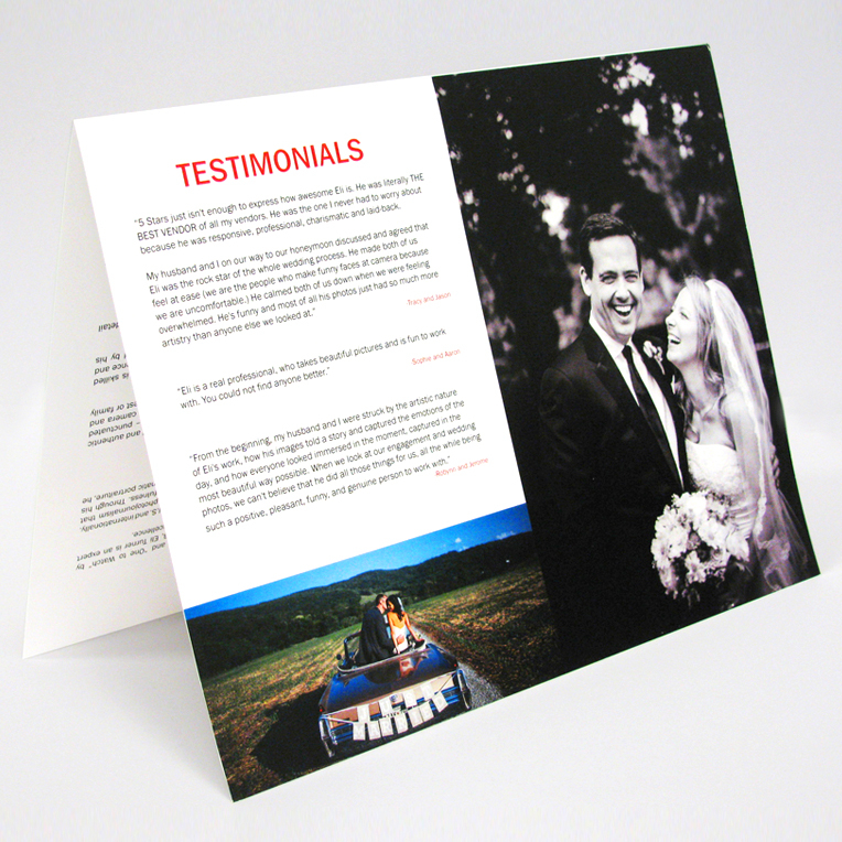 Eli Turner Photographer Brochure