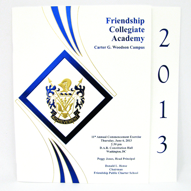Friendship Public Charter Schools Commencement Programs & Diplomas