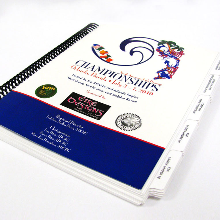 North American Irish Dancing Championships Plastic Coil Bound Program