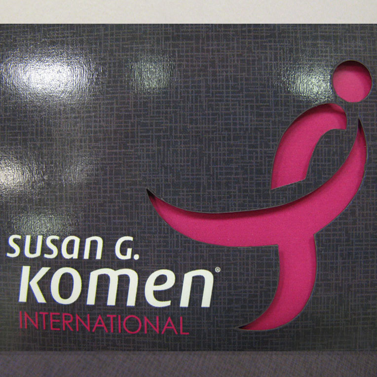 Susan G Komen Global Cancer Summit Custom Diecut Booklet
